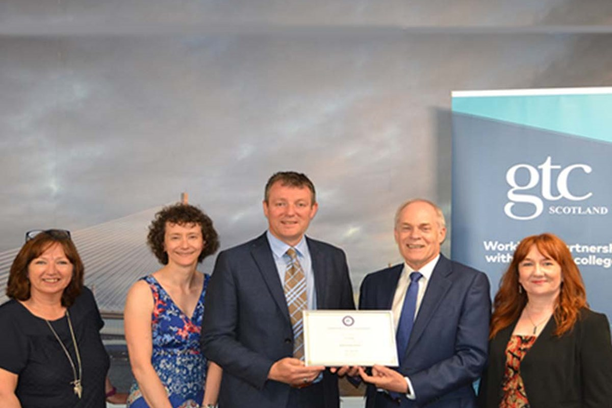 Fife College staff accept GTCS validation