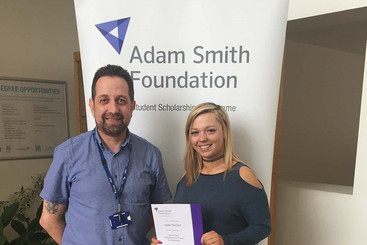 New Park Scholarship Success for Business Student