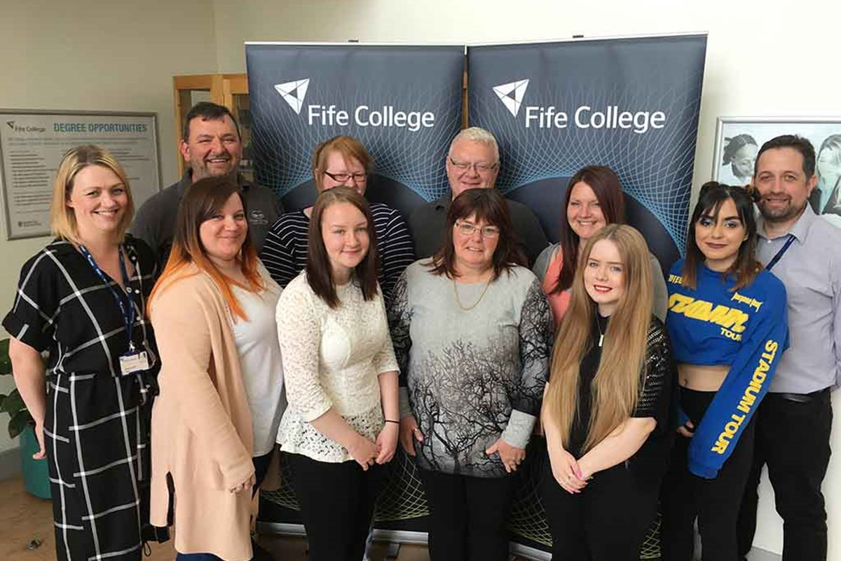 Fife College Administration Students Raise Over £800 for Local Charities