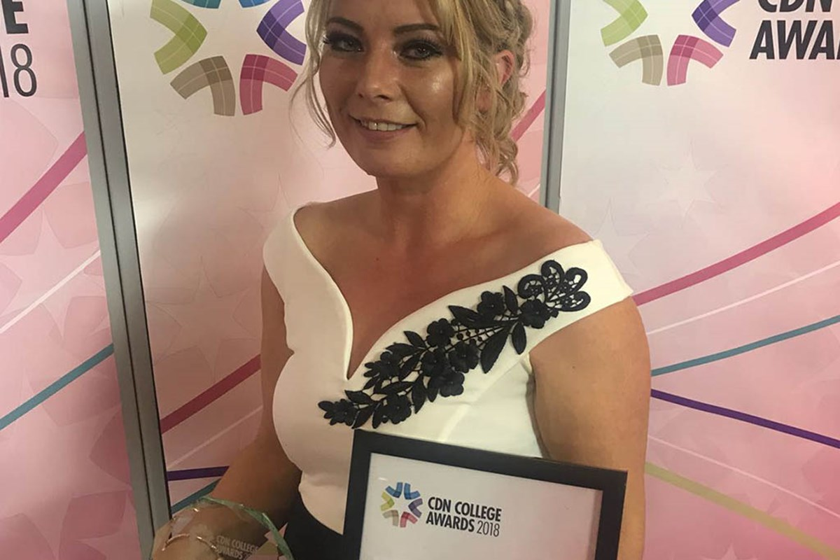 Student of the Year Award for Fife College's Carol Hunter