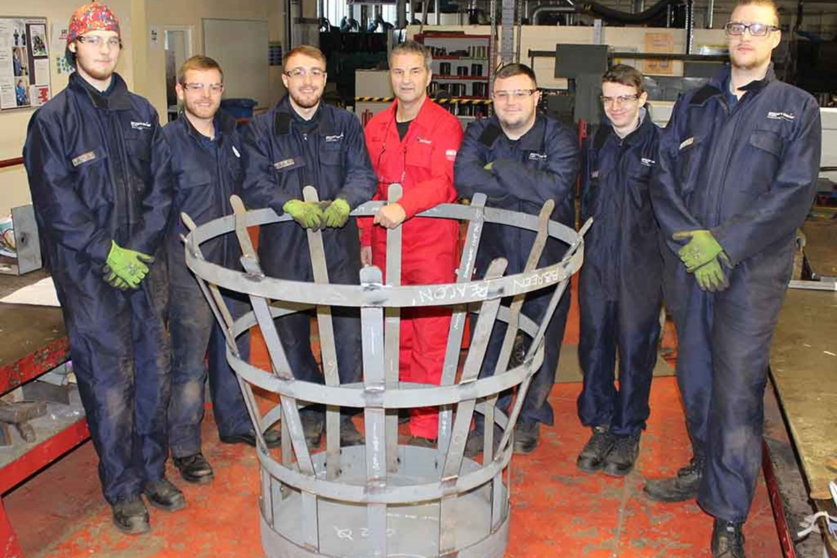 Apprentices Create Beacon of Light to Mark One Hundred Years of Remembrance