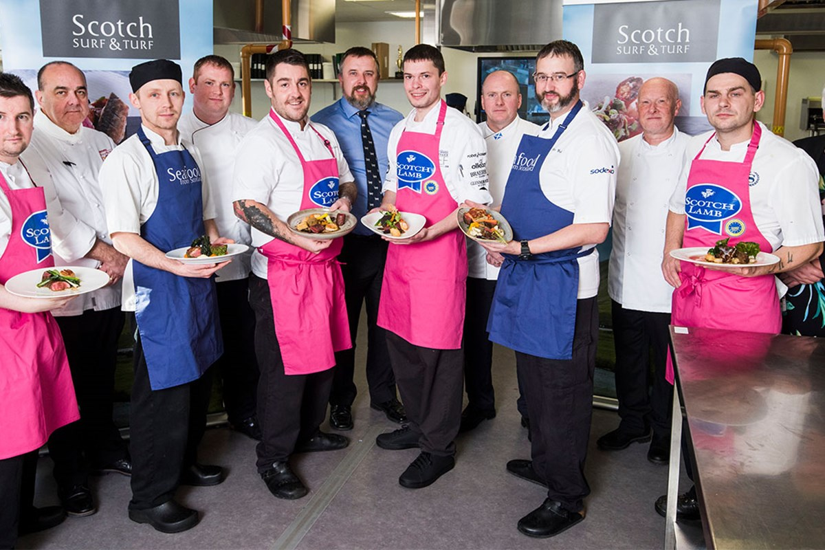 Fife College Hosts Final of Scotch Lamb PGI Surf 'n' Turf Chef of the Year competition