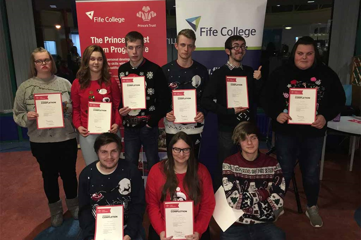 Prince's Trust Students Enjoy Christmas Presentation
