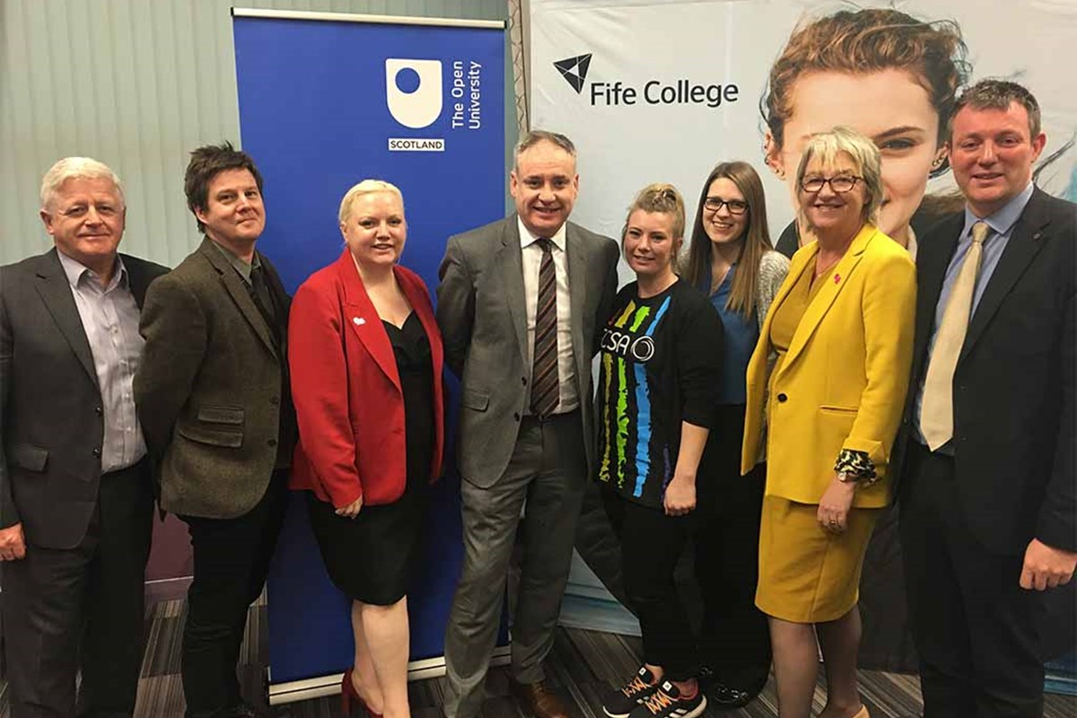 Fife College and Open University Partnership Welcome Minister
