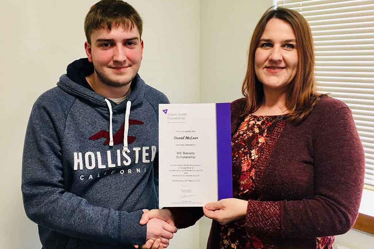 Daniel Receives First MS Scholarship