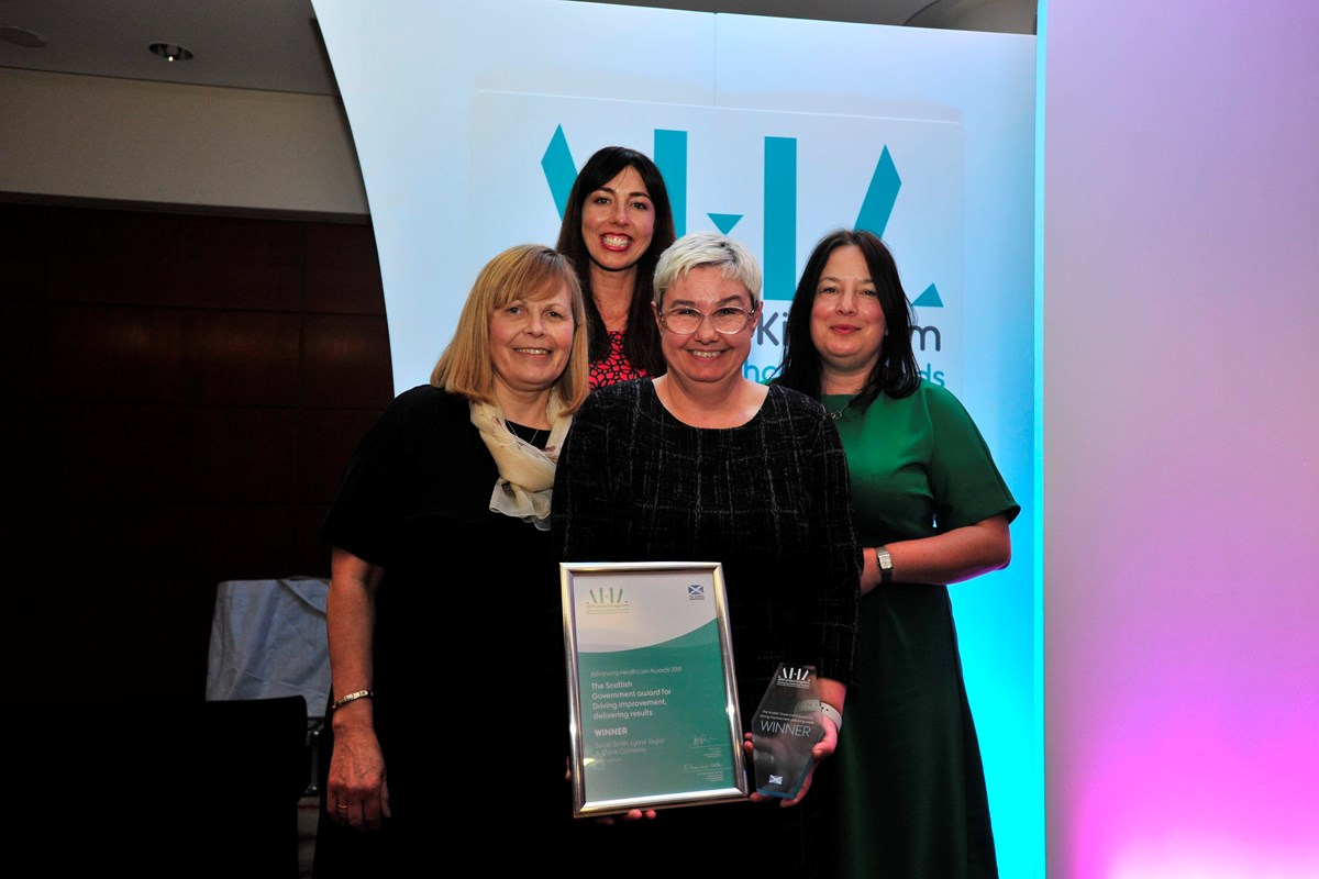 Partnership Win for Fife College and NHS Lothian at NHS Awards