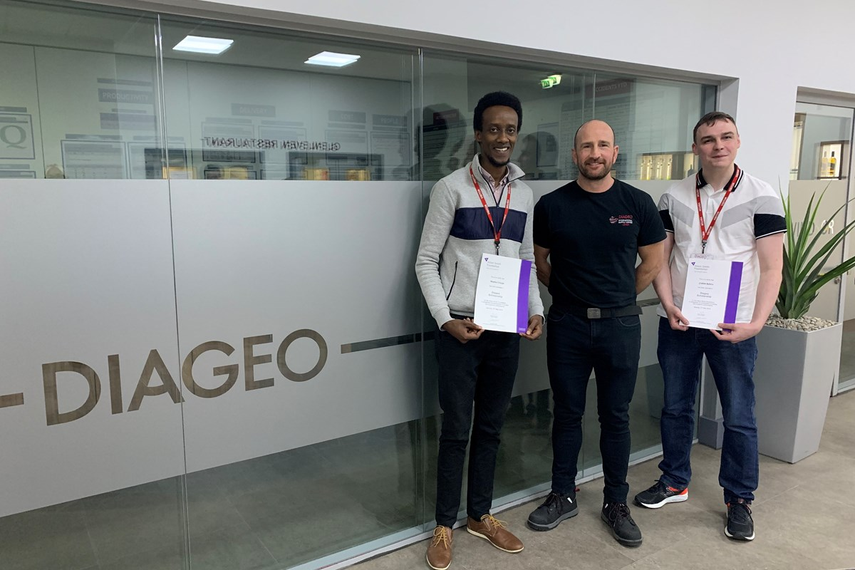 Students Cheer Scholarship Support from Diageo