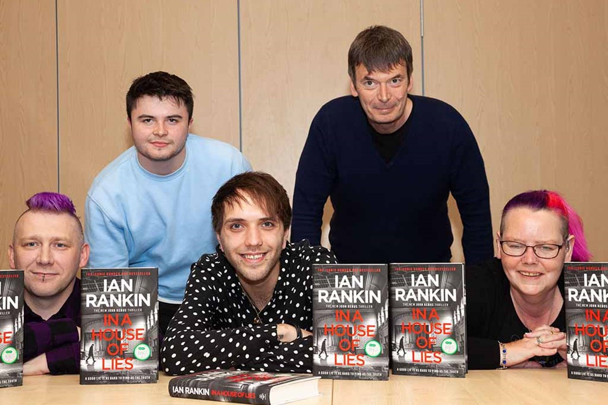 Students Receive Scholarships from World Famous Crime Writer Ian Rankin