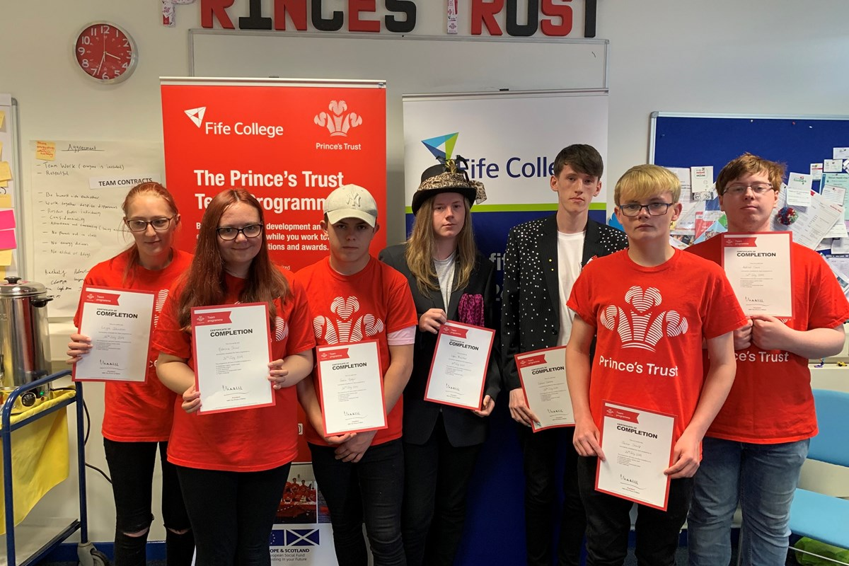 Prince's Trust Team 64 Celebrate Success