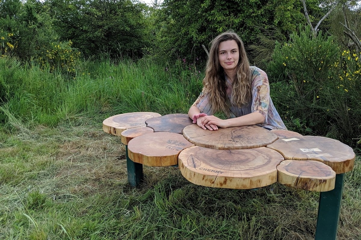Furniture Student's Competition Winning Bench Installed in Formonthills Woodland