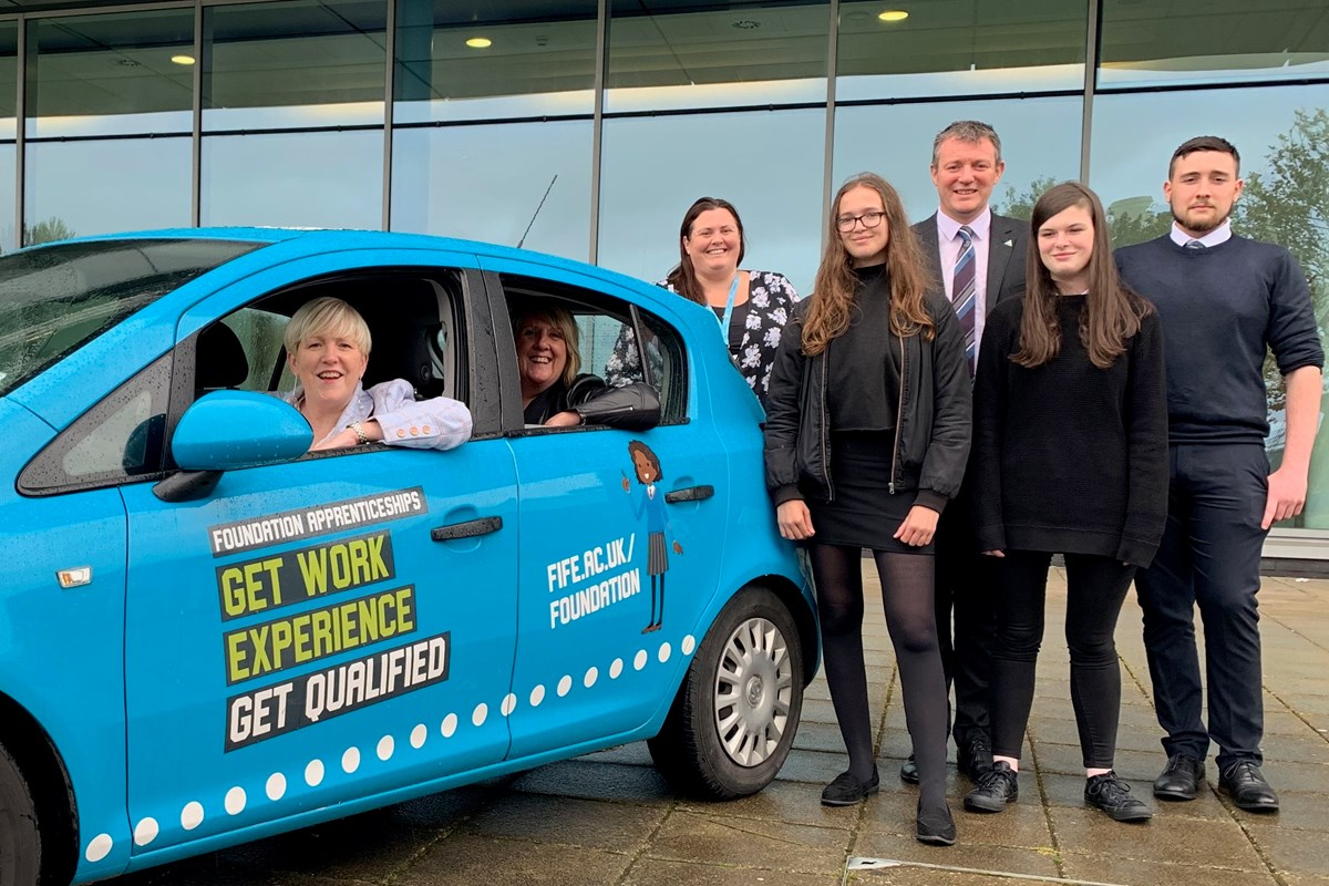 Competition to spot College and Fife Council's new Foundation Apprenticeship car launched