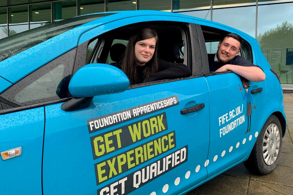 College and Fife Council launch Foundation Apprenticeship car