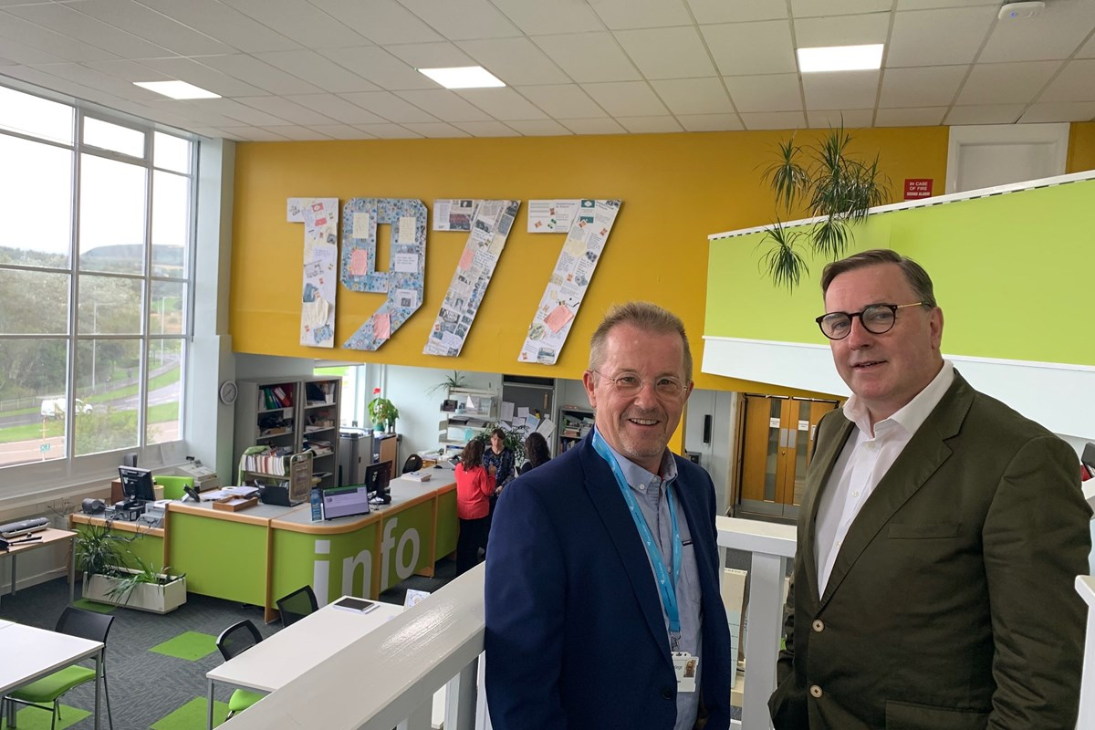 Skids Collage is centre piece of College's upgraded Dunfermline Campus library