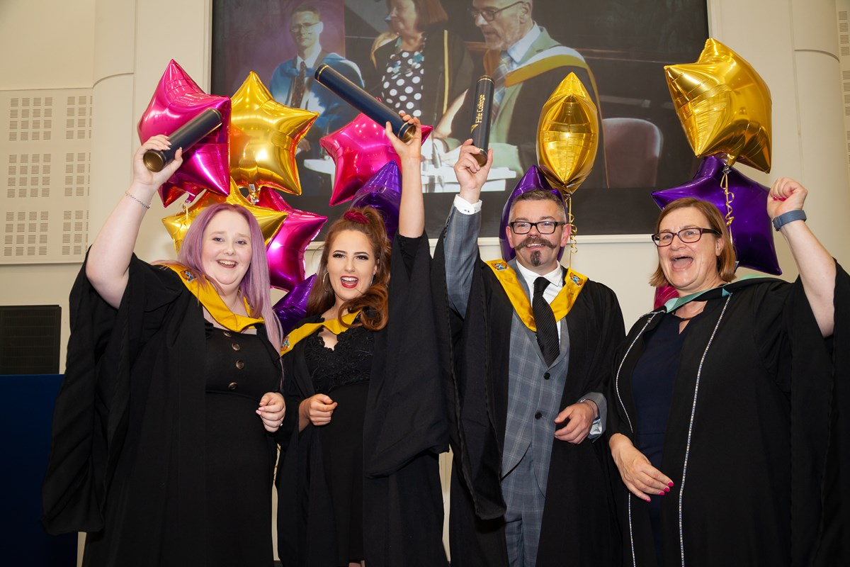 Competition winning Hospitality students celebrate at Graduation