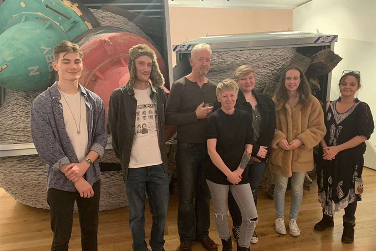 Creative students get opportunity to learn from Turner Prize nominee David Mach