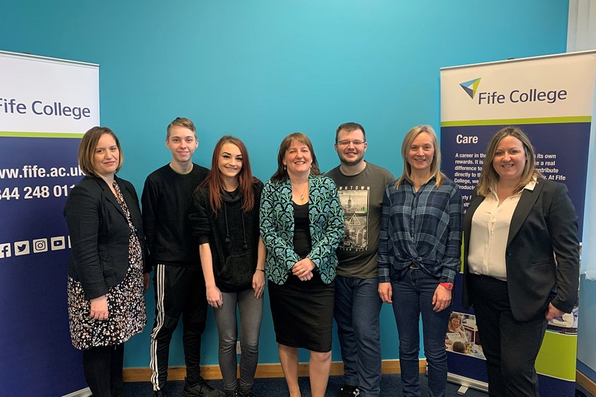 Minister for Children and Young People visits Fife College