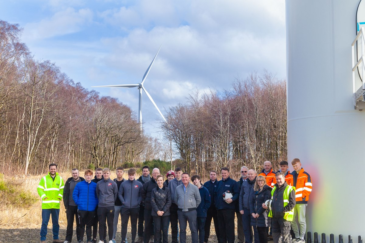 Wind farm energises Fife College apprentices