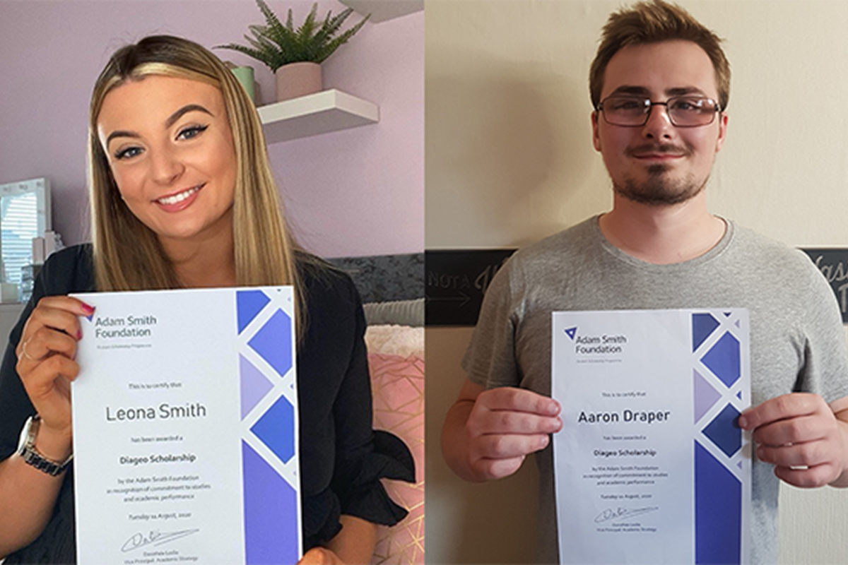 Diageo Scholarship delight for Leona and Aaron