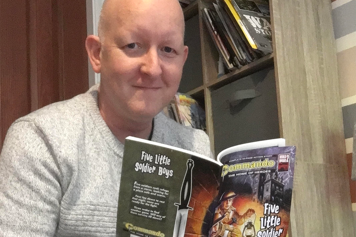 College lecturer Colin's stories published in Commando comic series